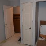 Bedroom and linen closet doors installed