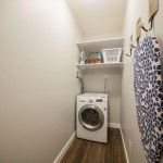Insuite laundry room with specialty washer-dryer unit